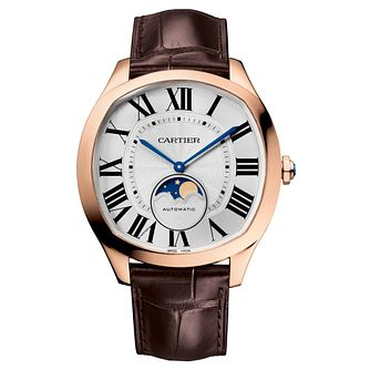 Cartier Drive De Cartier Men's Rose Gold Strap Watch - Product number 6341128