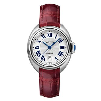 Cartier Cle De Cartier Ladies' Burgundy Leather Strap Watch - Product number 6341187