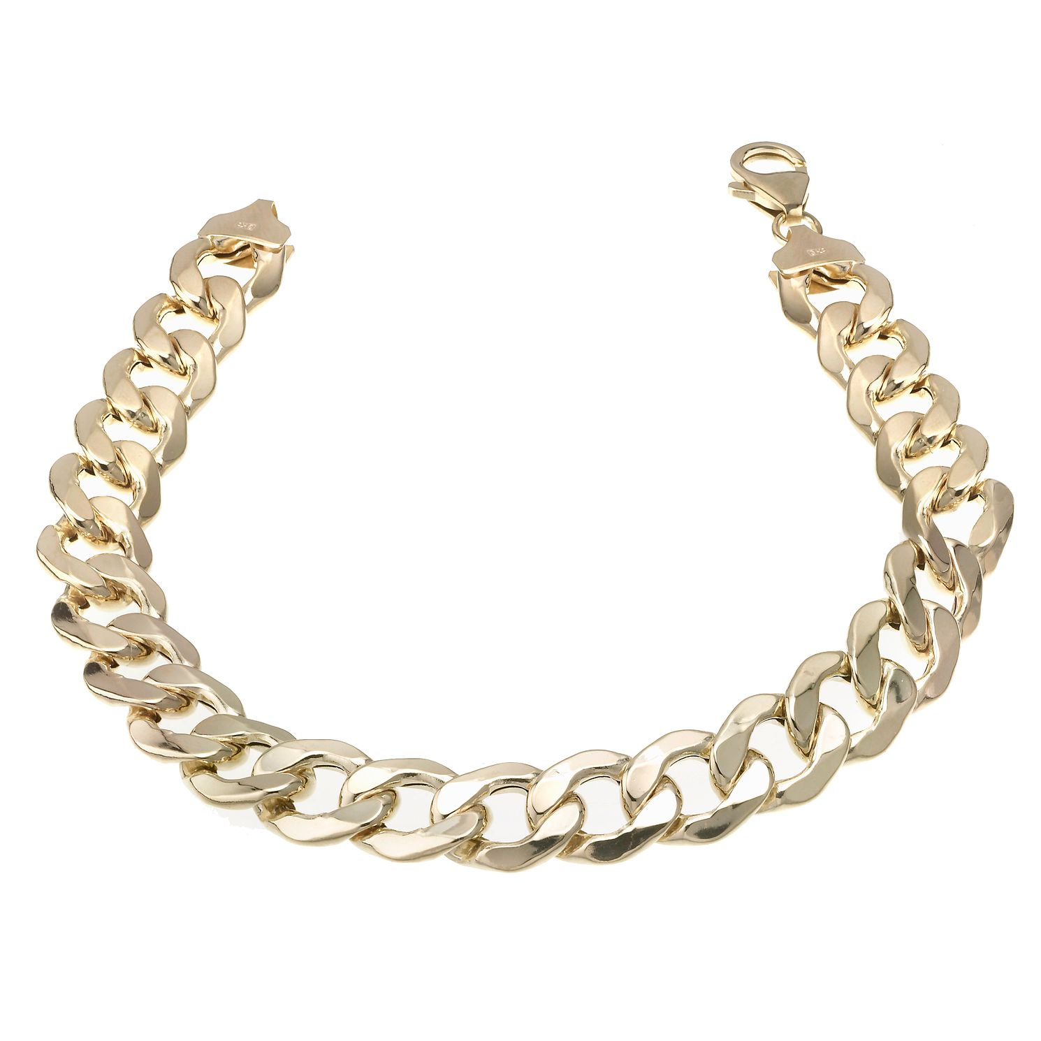 9ct Yellow Gold 8.5 Inch Curb Chain Bracelet - Product number 6342604