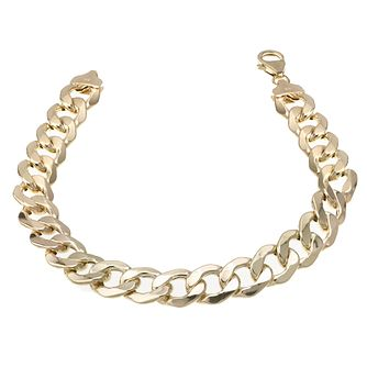 9ct Gold 8.5 inches Curb Bracelet - Product number 6342604