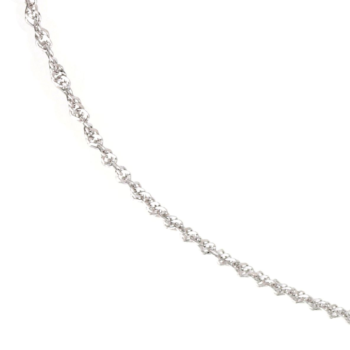 9ct White Gold 18 Inch Singapore Chain - Product number 6343473