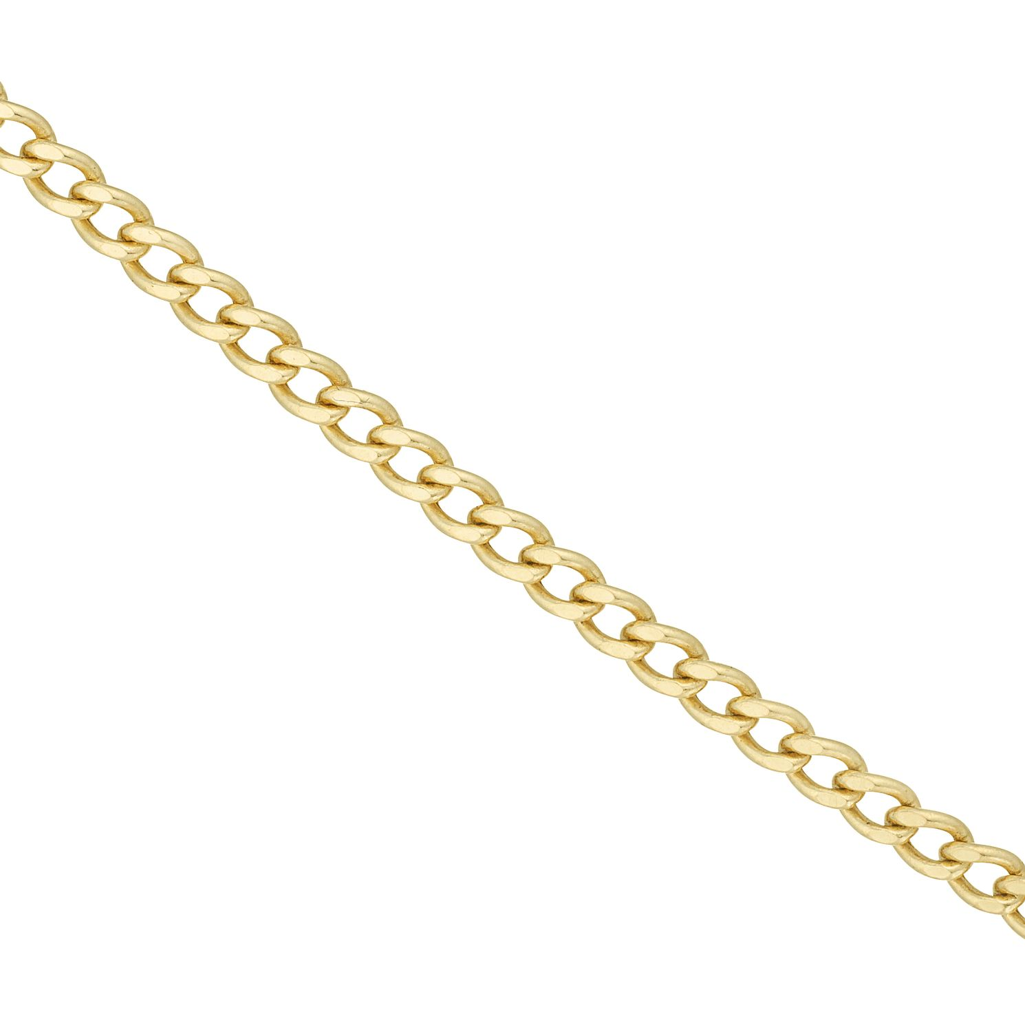 9ct Yellow Gold 16 Inch Curb Chain - Product number 6343554