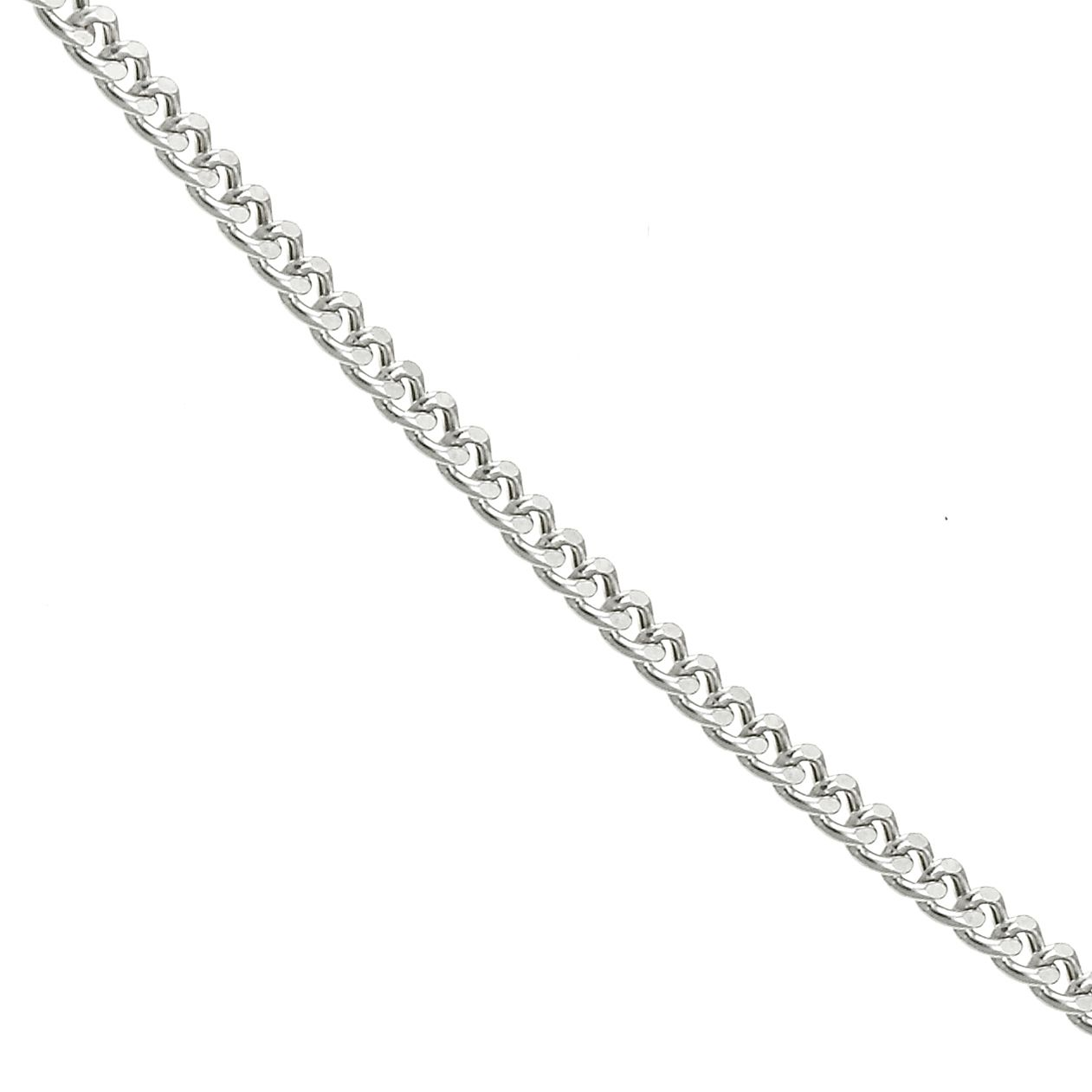 9ct White Gold 20 Inch Curb Chain - Product number 6343619