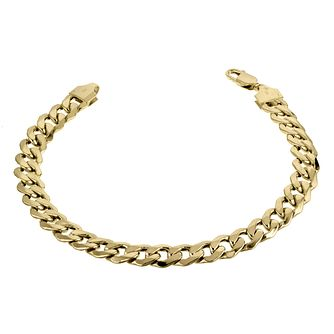 9ct Yellow Gold 8 Inch Curb Chain Bracelet - Product number 6344151