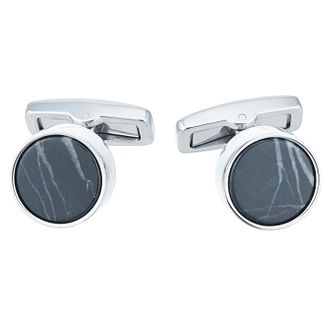 Hugo Boss Brass Round Polished Marble Cufflinks - Product number 6344771