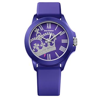 Juicy Couture Purple Silicone Strap Watch - Product number 6347770