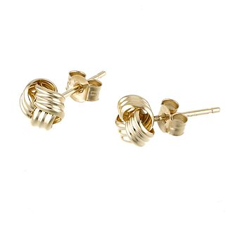 9ct Yellow Gold Small Knot Stud Earrings - Product number 6348386