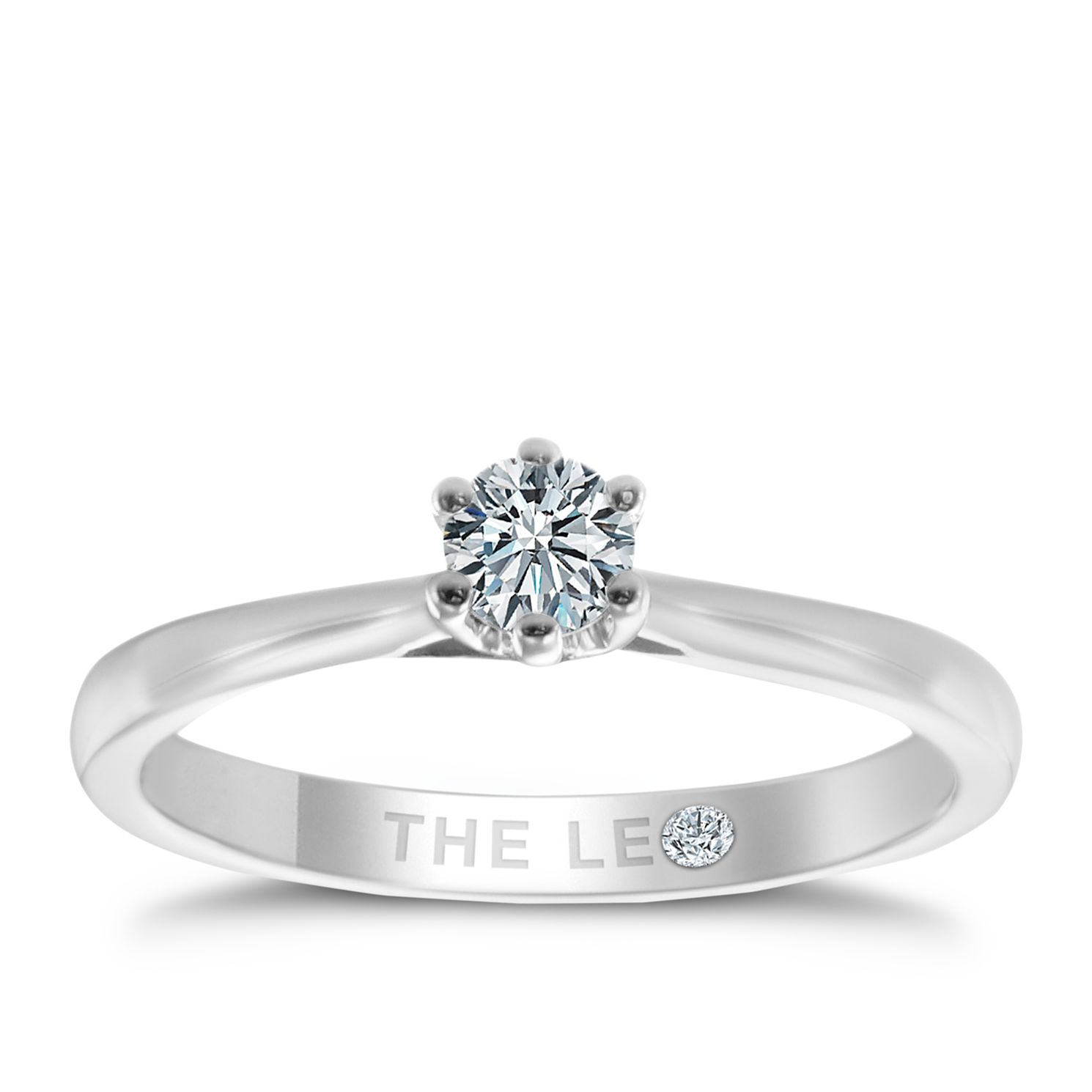 Leo Diamond 18ct White Gold 1/5ct ct I-P1 Diamond Ring - Product number 6348629