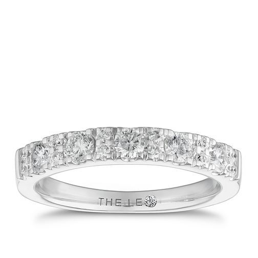 Leo Diamond 18ct White Gold 1/2ct Diamond Eternity Ring - Product number 6351166