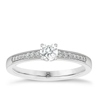 The Diamond Story 18ct White Gold 1/4ct Diamond Ring - Product number 6357113