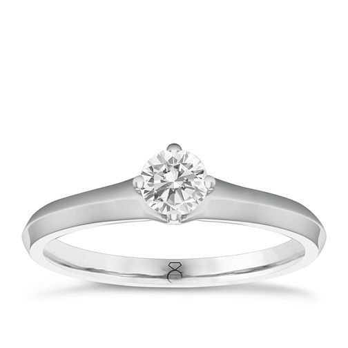 The Diamond Story 18ct White Gold 0.20ct Diamond H-I P1 Ring - Product number 6357245