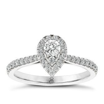 The Diamond Story 18ct White Gold 0.50ct Total Diamond Ring - Product number 6358349