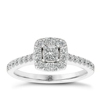 The Diamond Story 18ct White Gold 0.66ct Total Diamond Ring - Product number 6358799