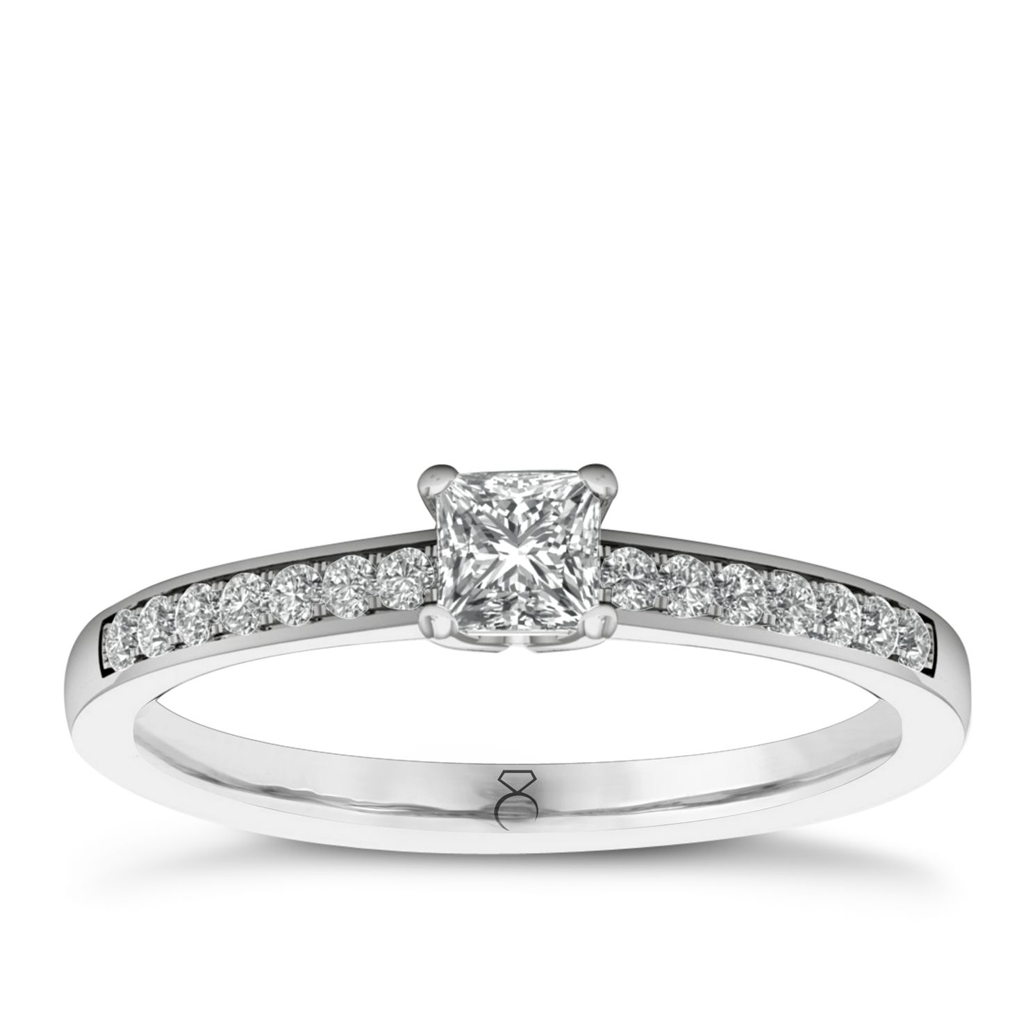 The Diamond Story 18ct White Gold 0.33ct Total Diamond Ring - Product number 6359078