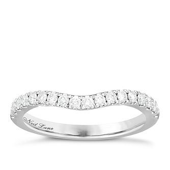 Neil Lane Bridal 14ct White Gold 0.29ct Diamond Shaped Band - Product number 6361803