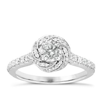 Neil Lane Bridal 14ct White Gold 0.75ct Total Diamond Ring - Product number 6362729