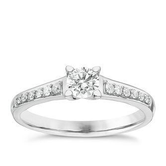 Platinum 1/2ct Diamond Solitaire Ring - Product number 6363555