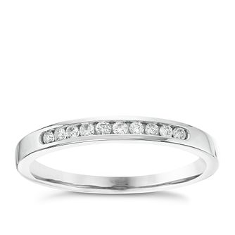 18ct White Gold 1/10ct Diamond 10 Stone Eternity Ring - Product number 6367259