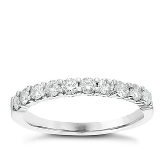 18ct White Gold 0.50ct Diamond Eternitiy Ring - Product number 6367526