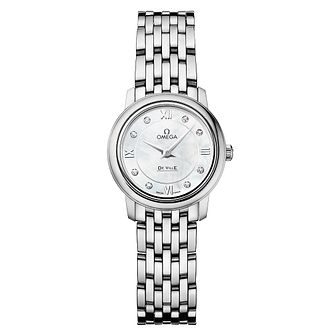 Omega De Ville Ladies Stainless Steel Diamond Bracelet Watch - Product number 6371469