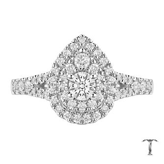 Tolkowsky 18ct White Gold 0.75ct Diamond Double Halo Ring - Product number 6372678
