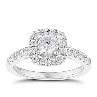 Tolkowsky 18ct White Gold 1ct Total Diamond Halo Ring - Product number 6373542