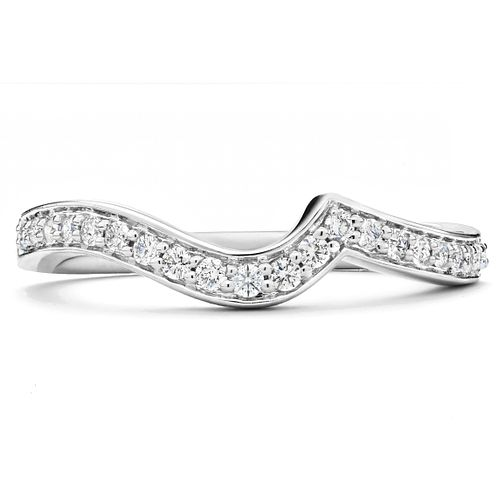 18ct White Gold 1/4ct Diamond Shaped Wedding Band - Product number 6373917