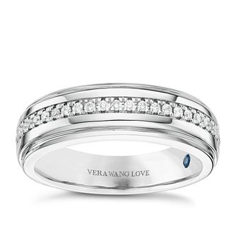 Vera Wang Men's 18ct White gold 0.23ct Diamond Band - Product number 6374557