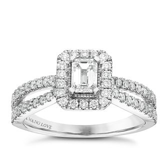 Vera Wang 18ct White Gold 0.95ct Diamond Ring - Product number 6374840