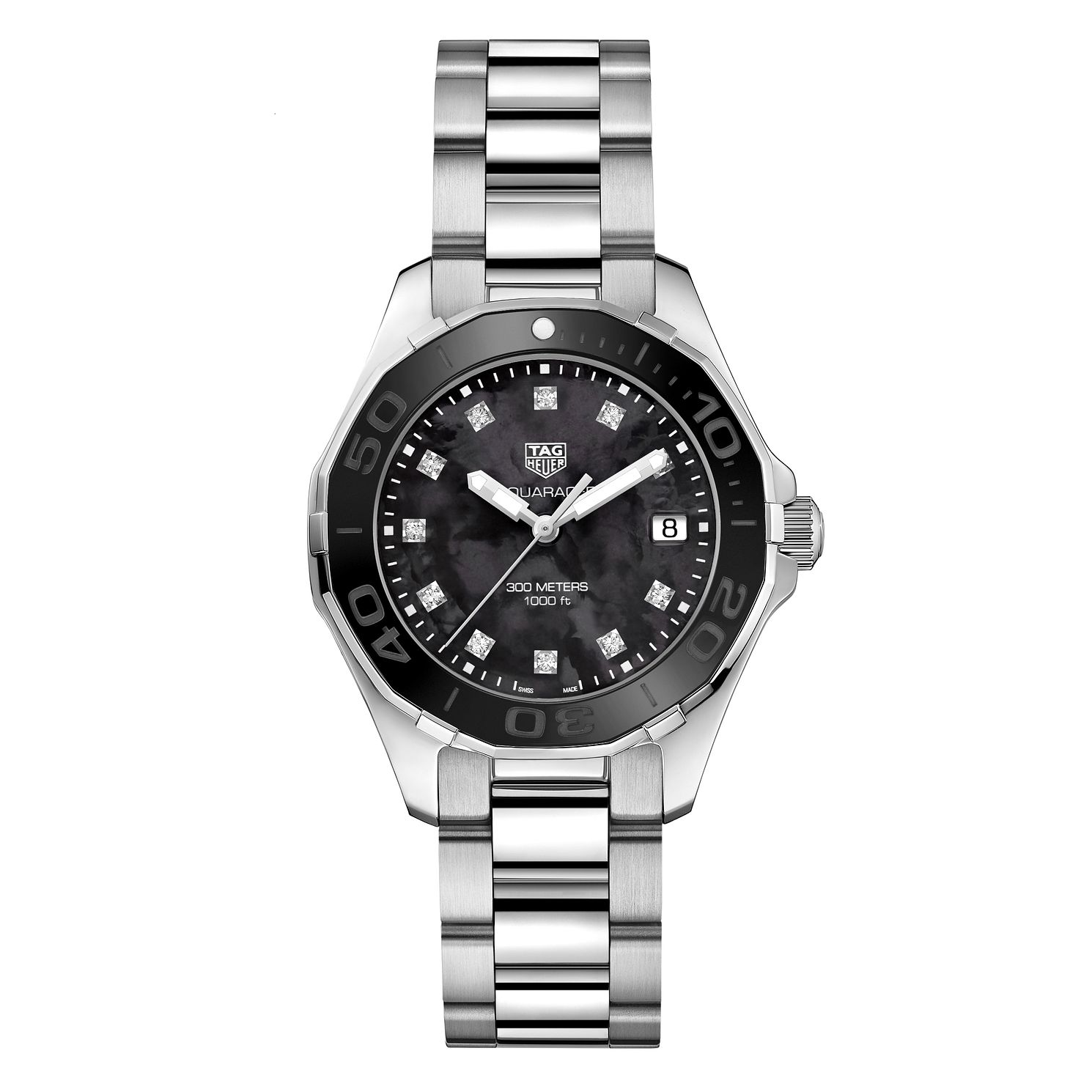 TAG Heuer Aquaracer Ladies' Diamond Bracelet Watch - Product number 6378943