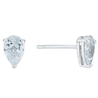 ae4d3ac97 9ct White Gold Cubic Zirconia Teardrop Studs - Product number 6381596