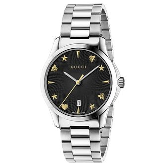 d42d082d642 Gucci G-Timeless Stainless Steel Bracelet Watch - Product number 6382517