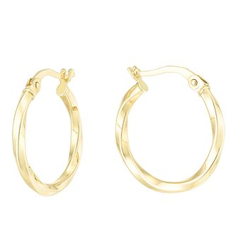 9ct Yellow Gold Creole Earrings 15mm - Product number 6382657