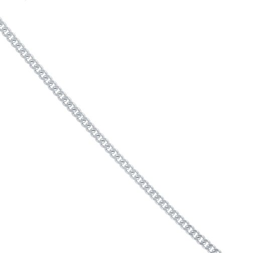 "9ct White Gold Adjustable 20""  Curb Chain - Product number 6383025"