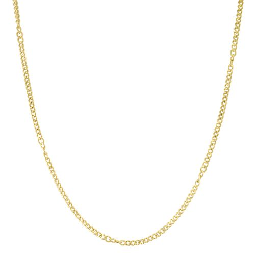 9ct Yellow Gold Twisted Link Stationed Chain - Product number 6383076