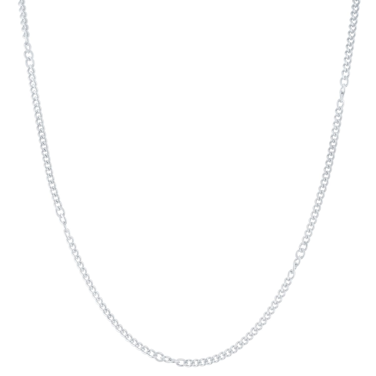 9ct White Gold Twisted Link Stationed Chain - Product number 6383084