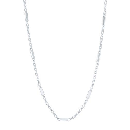 9ct White Gold Stationed Chain - Product number 6383092
