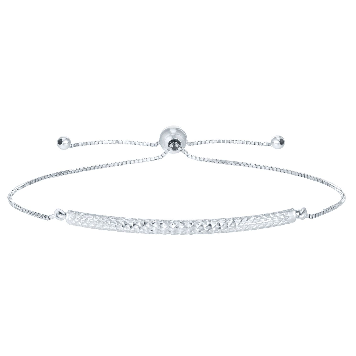 9ct White Gold Patterned Bracelet - Product number 6383335