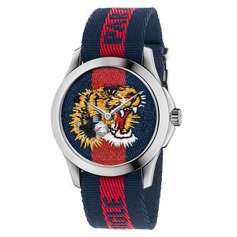 Gucci Le Marché Des Merveilles Tiger Striped Strap Watch - Product number 6383394