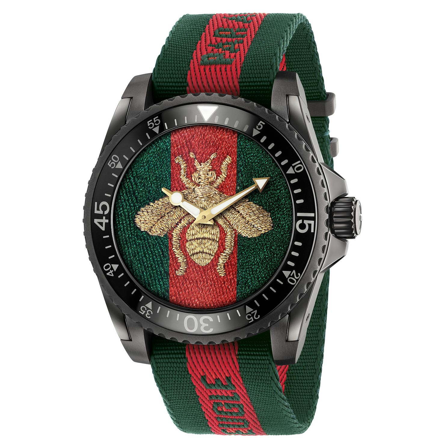 Gucci Dive Bee Striped Strap Watch - Product number 6383416