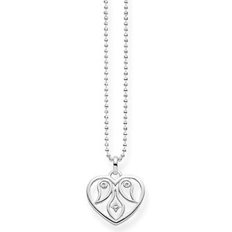 Thomas Sabo Diamond Cut-Out Heart Necklace - Product number 6391540