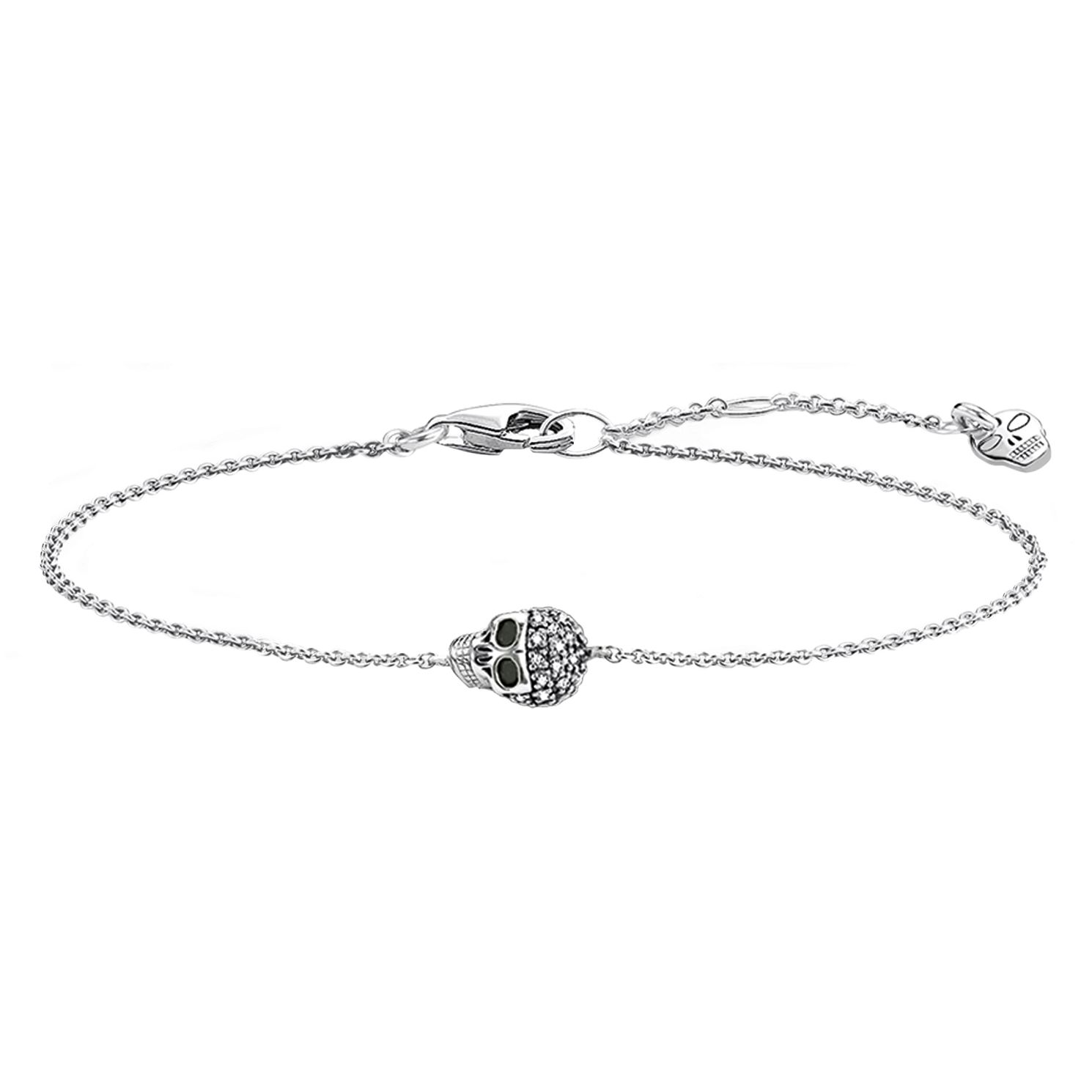 Thomas Sabo Rebel At Heart Silver Diamond Skull Bracelet - Product number 6391664