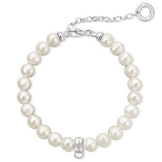Thomas Sabo Charm Club Adjustable Pearl Charm Bracelet - Product number 6391702