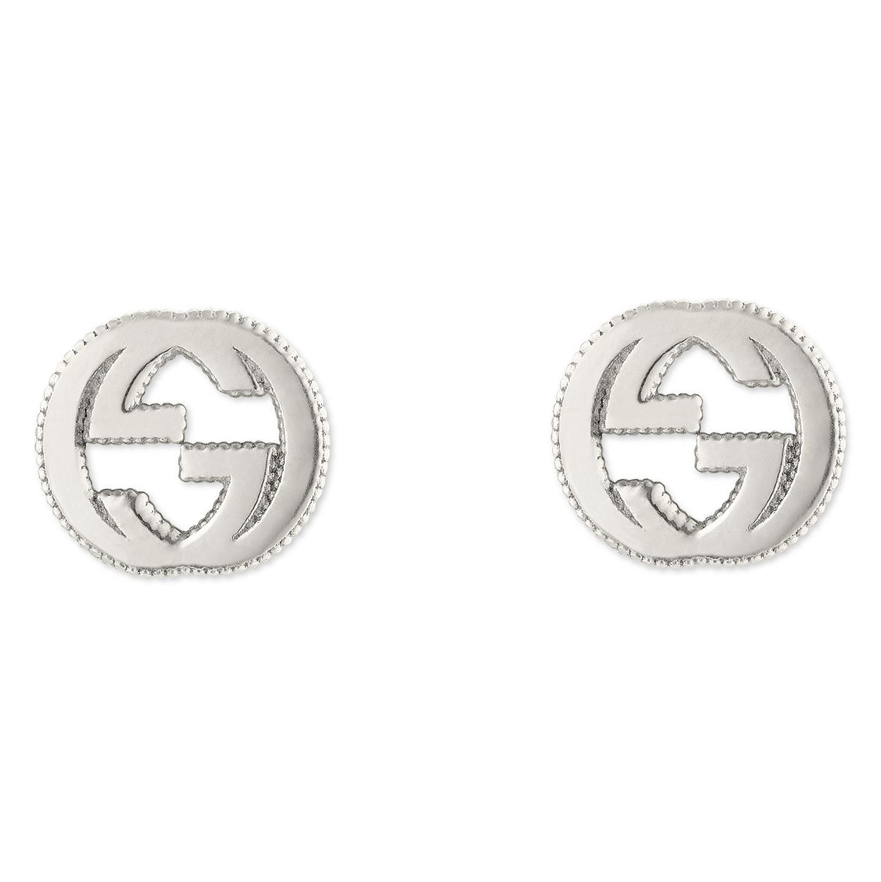 Gucci Sterling Silver Interlocking Qxg' Motif Stud Earrings - Product number 6395732