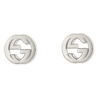 26ca2287e49 Gucci sterling silver interlocking  G  motif stud earrings - Product number  6395732