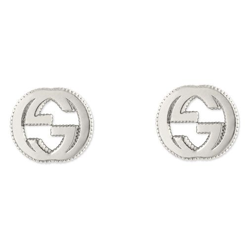 Gucci sterling silver interlocking 'G' motif stud earrings - Product number 6395732