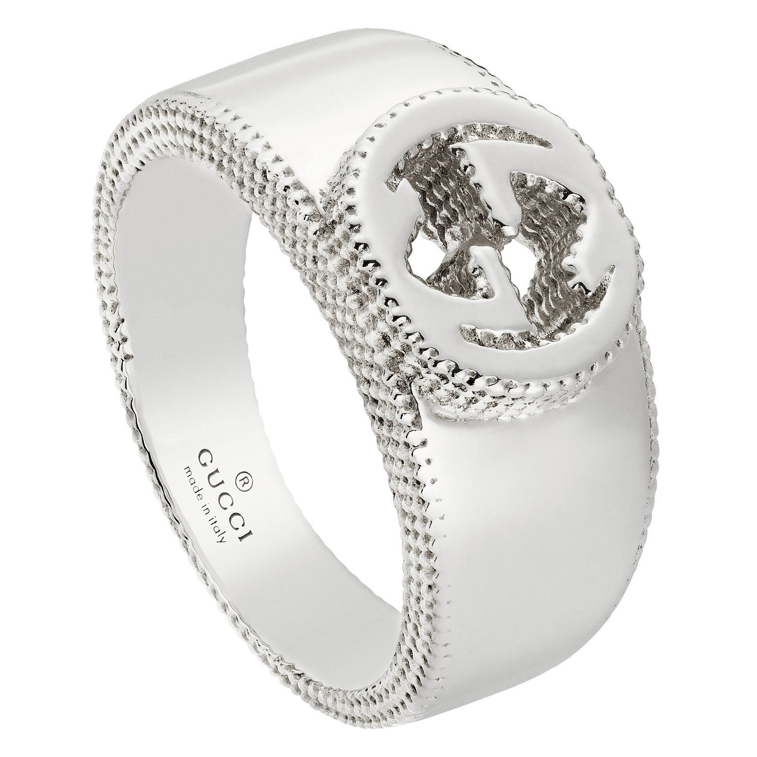 Gucci Sterling Silver Logo Ring - Product number 6395740