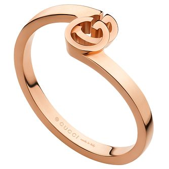 Gucci Running G 18ct Rose Gold Ring Size M - Product number 6395775