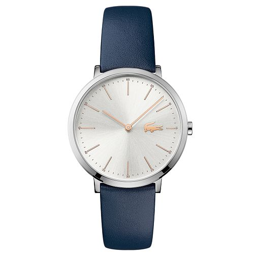 Lacoste Ladies' Blue Leather Strap Watch - Product number 6412076