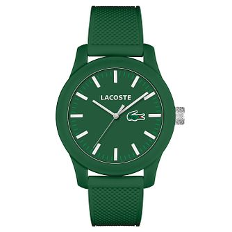 Lacoste Men's Green Silicon Strap Watch - Product number 6412335